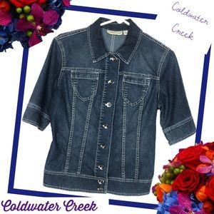 COLDWATER CREEK Preppy Denim Button-up Top/Jacket